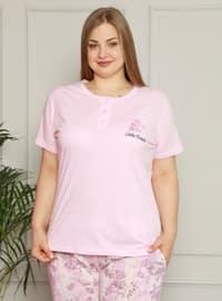 Pink - Plus Size Pyjamas