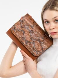 Tan - Satchel - Clutch - Shoulder Bags