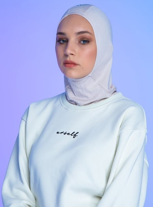 Beige - Plain - Simple - Sports Bonnet