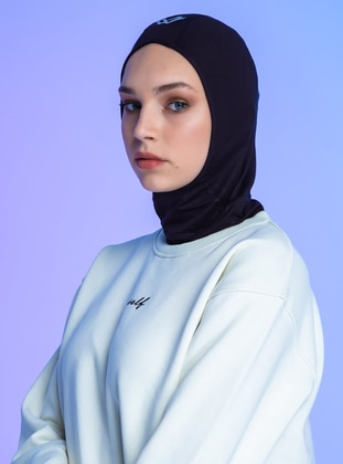 Black - Plain - Simple - Sports Bonnet