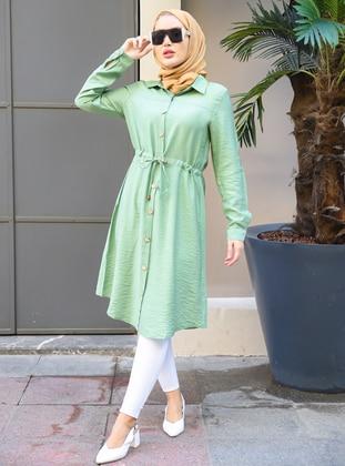 Green Almond - Point Collar - Tunic - Por La Cara