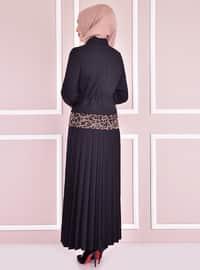 Unlined - Black - Multi - Point Collar - Evening Suit
