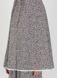 Brown - Leopard - Unlined - Suit - Hal-i Niyaz