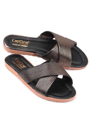 Rose - Black - Sandal - Slippers