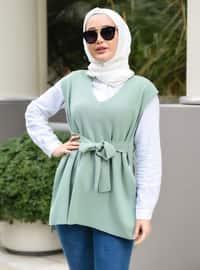 Unlined - Green Almond - Knit Sweater