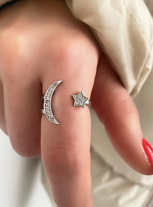 Silver tone - Ring - Takıştır Bijuteri