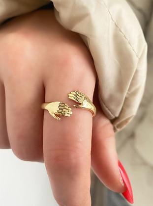 Gold - Ring - Takıştır Bijuteri