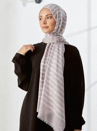 Dusty Rose - Striped - Shawl