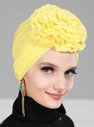 Yellow - Plain - Instant Scarf