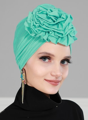 Turquoise - Plain - Instant Scarf