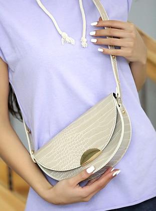 Cream - Crossbody - Satchel - Shoulder Bags