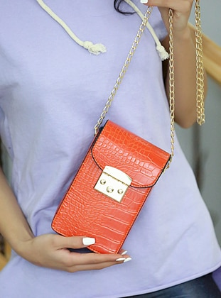 Orange - Crossbody - Satchel - Shoulder Bags