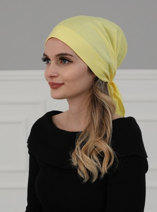 Yellow - Plain - Instant Scarf