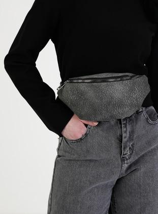 Gray - Crossbody - Bum Bag
