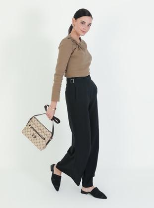 Crossbody - Satchel - Brown - Cross Bag