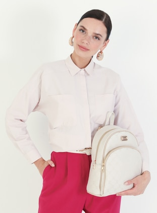 Beige - Crossbody - Satchel - Backpacks