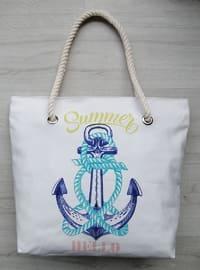 Satchel - White - Beach Bags