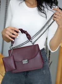 Maroon - Satchel - Shoulder Bags