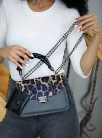 Leopard - Black - Satchel - Shoulder Bags