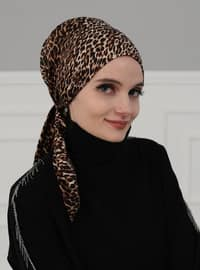 Leopard - Printed - Instant Scarf