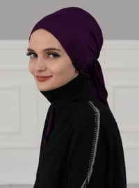 Purple - Plain - Instant Scarf