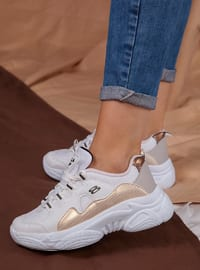 Gold - White - Sport - Sports Shoes