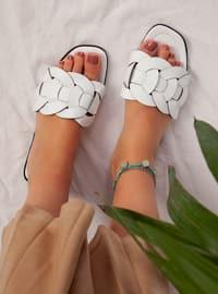 White - White - White - Sandal - Slippers