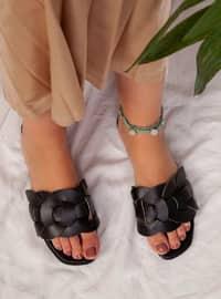 Black - Black - Black - Sandal - Slippers