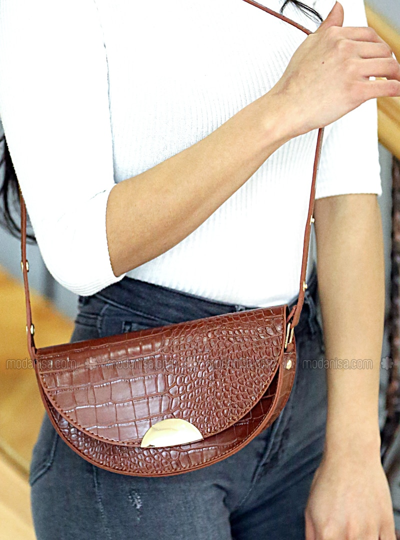 Tan - Crossbody - Satchel - Shoulder Bags