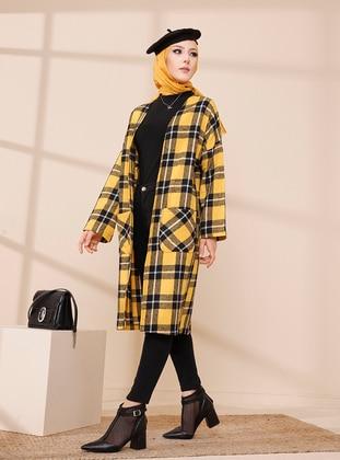Mustard - Black - Plaid - Unlined - Jacket