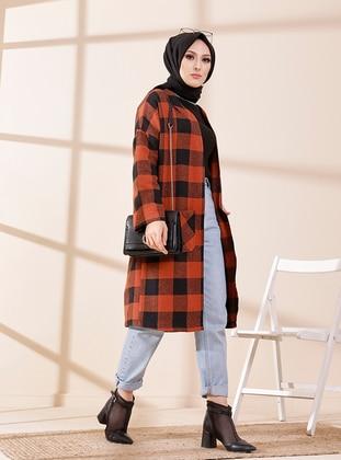 Terra Cotta - Checkered - Unlined - Jacket