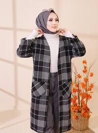 White - Black - Plaid - Unlined - Jacket