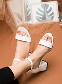 White - Sandal - Heels