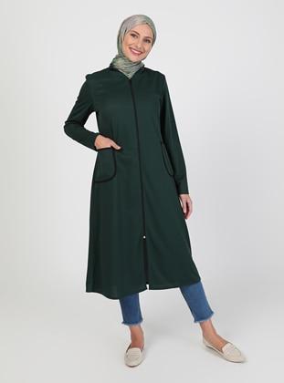 Emerald - Unlined - Crew neck - Topcoat