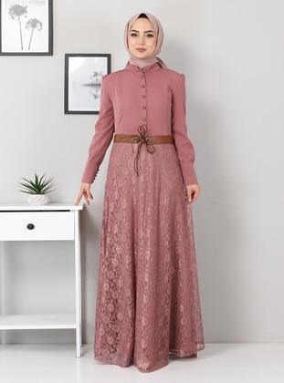 Unlined - Dusty Rose - Modest Dress