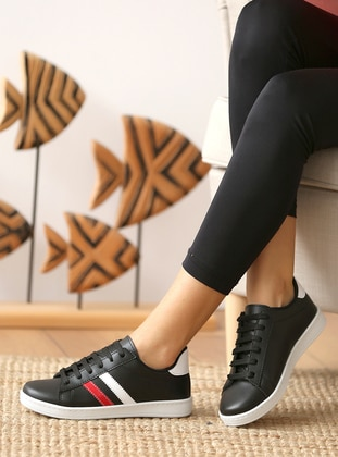 Casual - Red - Black - Casual Shoes