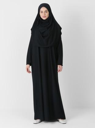 Black - Crew neck - Unlined - Prayer Clothes - ECESUN