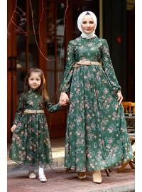 Unlined - Khaki - Girls` Dress