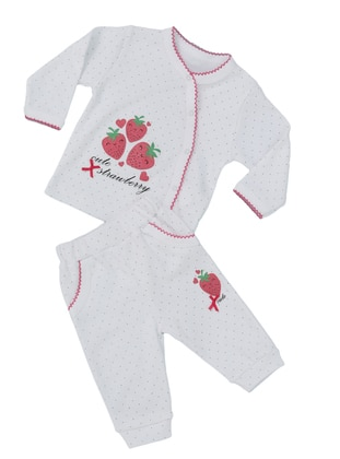 Multi - Crew neck - White - Baby Suit