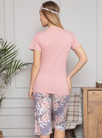 Rose - Crew neck - Multi - Pyjama Set