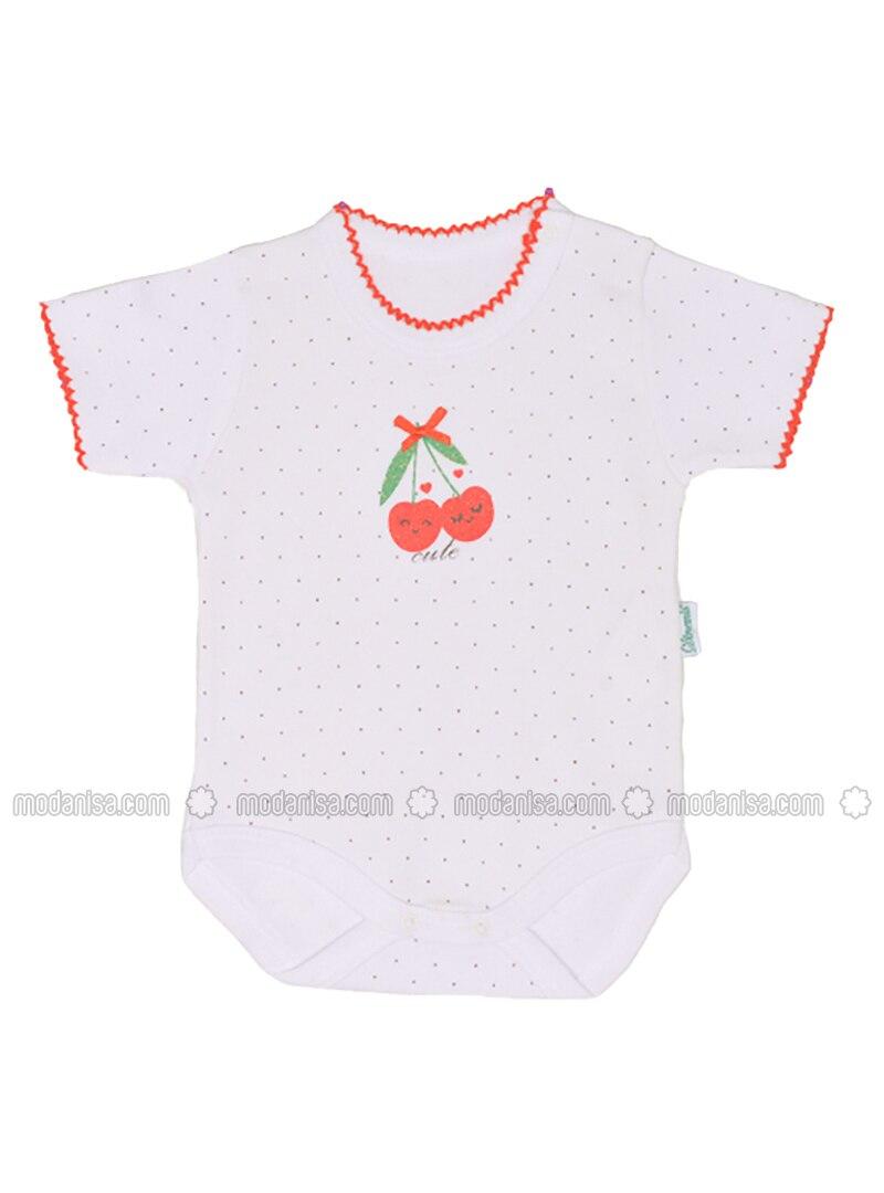 Multi - Crew neck - White - Baby Body