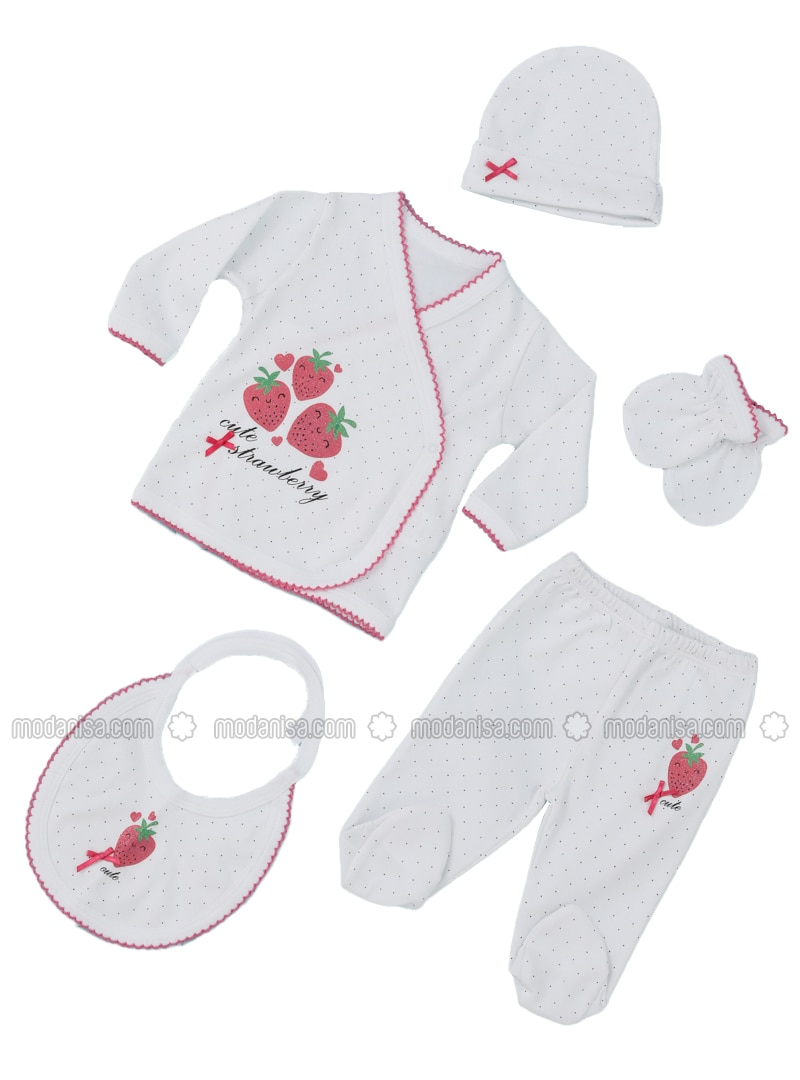 Multi - Crew neck - White - Baby Suit