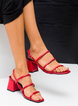 Red - Sandal - Heels