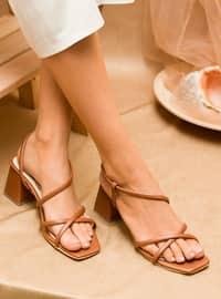 Tan - Sandal - Heels