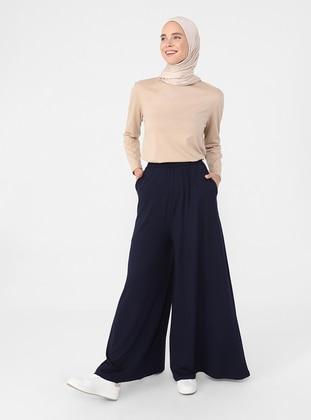 Navy Blue - Pants - Refka