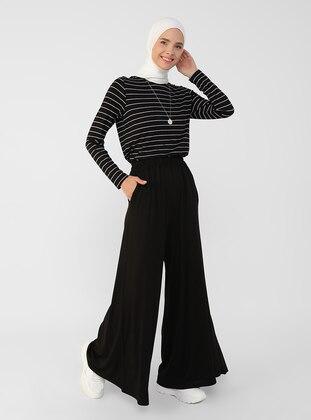 Black - Pants - Refka