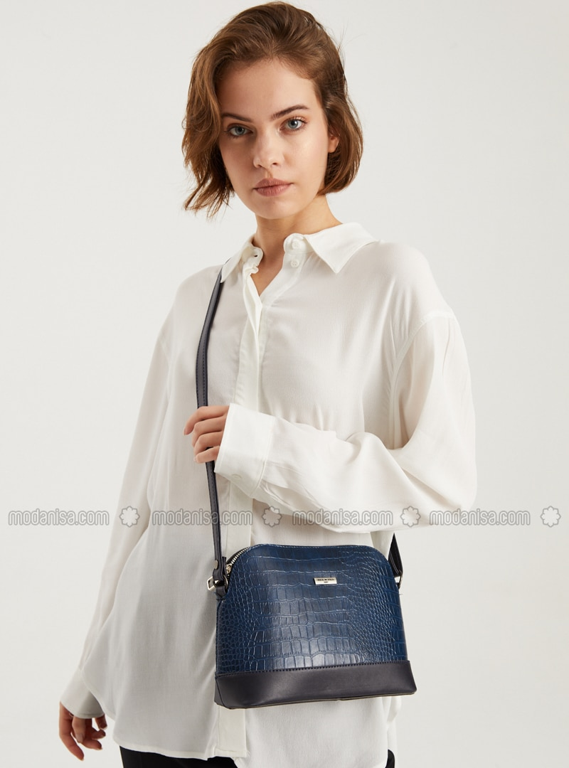 Blue - Crossbody - Satchel - Shoulder Bags