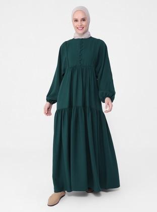 Emerald - Crew neck - Unlined - Modest Dress - Refka Casual