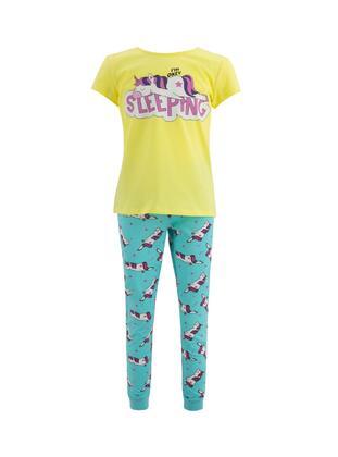 Yellow - Girls` Pyjamas - DeFacto
