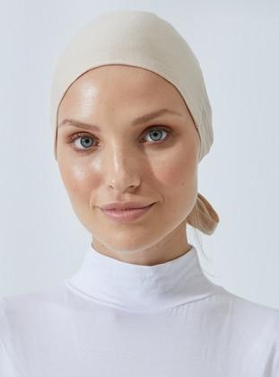Beige - Lace up - Bonnet